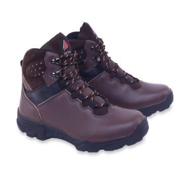 Garsel Kasual Sepatu Boot Pria - Coklat [GAJ 2024]