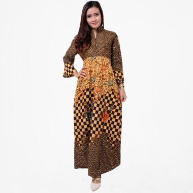 Batik Distro BA9324 BA9325 BA9326 Kombinasi Tali Gamis Batik Wanita 1c73393bec