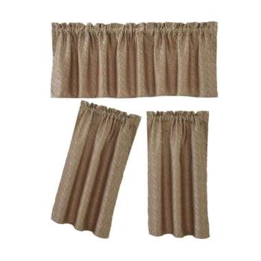 Jual 2pcs Set Light Reducing Thermal Insulated French Glass Door Curtain Panels Online September 2020 Blibli Com