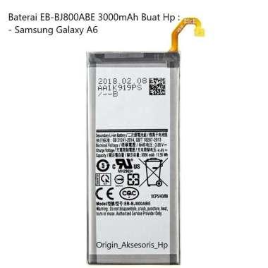 harga Original Baterai EB-BJ800ABE Buat Handphone Samsung Galaxy A6 Blibli.com