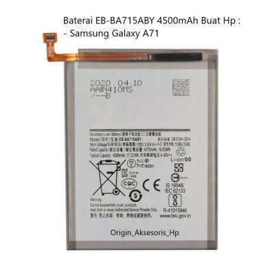 harga Original Baterai EB-BA715ABY Buat Handphone Samsung Galaxy A71 Blibli.com