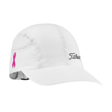 Titleist Ladies Pink Ribbon Golf Caps - White