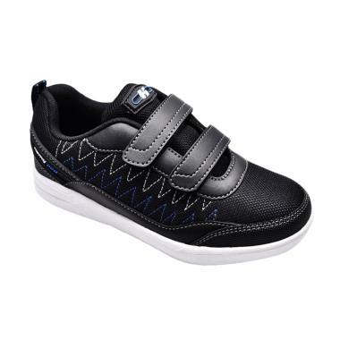 Homyped 01 Sepatu Sekolah Anak Edison - Black White
