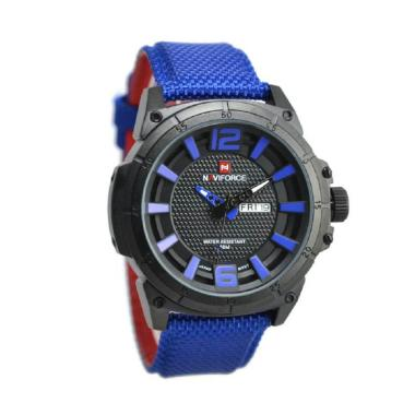 Naviforce NF0066M Jam Tangan Pria - Biru Ring Hitam