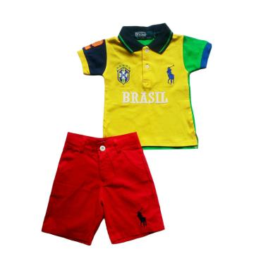 POLO Brazil Pant Red Setelan Anak Laki-Laki - Yellow