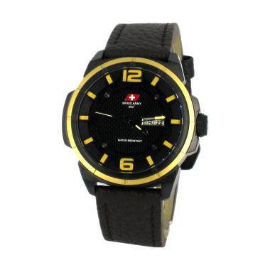 Swiss Army SA 6038M Jam Tangan Pria - Black Dark Brown Yellow