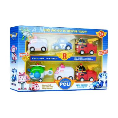 MOMO Robocar Poli Mini Figure - Multicolour [6 Pcs]