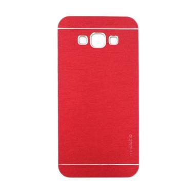 Motomo Metal Hardcase Casing for Samsung Galaxy E7 - Red
