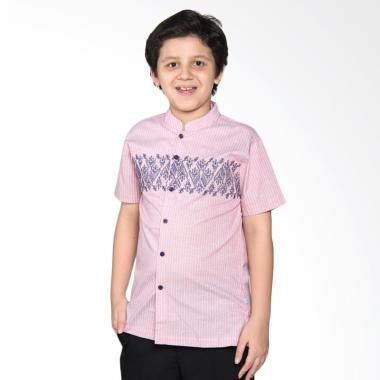 Versail Kids Junior M 7083 Baju Koko Anak - Strimin Red