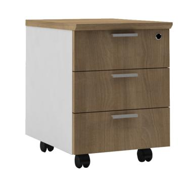 HighPoint MB6105 Six Mobile Pedestal - Cappucino