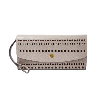 Fossil SL 7259020 Haven Large Flap Dompet Wanita – Grey