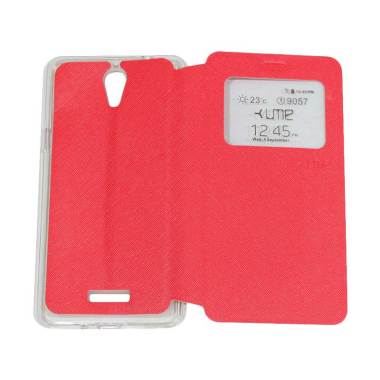 UME Flipshell Flip Cover Casing for Coolpad Sky 3 / E502 - Red