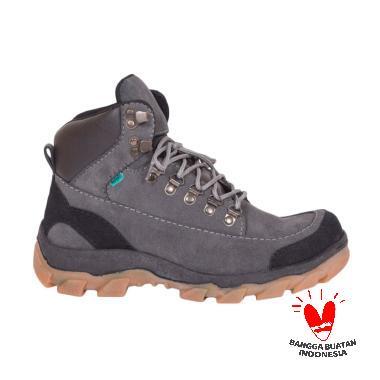 Azcost Hiking Safety Sepatu Boots Pria - Grey