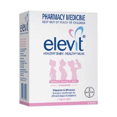 harga Elevit with Lodine Vitamin Pregnancy [100 Tablets] Warm White Blibli.com