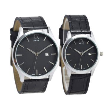 Alfa D45H17055010CHTMSH Couple Edition Jam Tangan Pasangan - Black