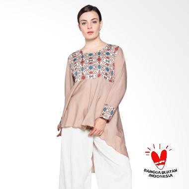 SIMPLE LADIES SL Top Ima Batik Blouse - Krem
