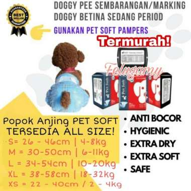 harga Pet Soft Disposable Diapers Size XS S M L XL Popok Anjing (Pampers) - XS Blibli.com