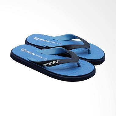 Ando Hawaii Fashion Sandal Jepit Pria - Navy Blue