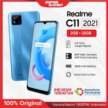 harga Realme C11 2021 2/32 GB RAM 2 ROM 32GB Original Handphone Hp Smartphone Android Garansi Resmi Blue Blibli.com