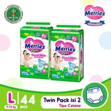 Merries Pants Good Skin L 44 Popok Bayi [Twinpack]