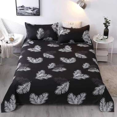 harga Ellenov Palma ( Sprei + Bedcover ) Bahan Katun Lokal Premium | Bedcover Set Homemade 100 x 200 Palma Hitam Blibli.com