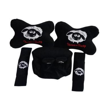 Custom 3in1 Shaun The Sheep Set Bantal Mobil - Black