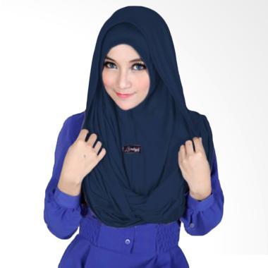 Milyarda Hijab Sosor Twist Kerudung - Biru Dongker