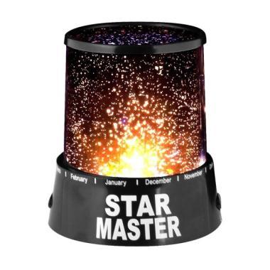 harga STAR MASTER Projector Lamp Lampu Tidur Proyeksi Bulan Bintang Berputar & Music (Adaptor) Blibli.com