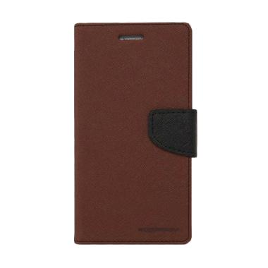 Mercury Fancy Diary Casing for Oppo Joy R1001 - Coklat Hitam