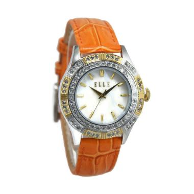 Elle EL20389S03N Jam Tangan Wanita - Orange Ring Silver Gold