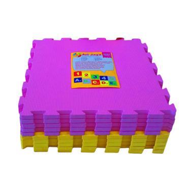 Ari Jaya Polos Karpet Puzzle - Kuning Pink [10 Pcs]