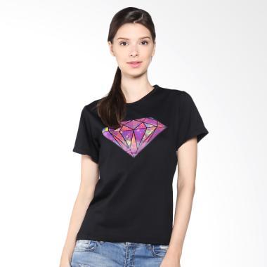 JCLOTHES Diamond Tumblr Tee Kaos Wanita - Hitam
