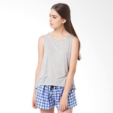 Madeleine's Fally Shirt Pants Set Baju Tidur - Blue Grey