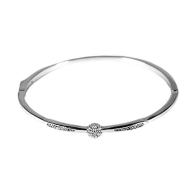 D'Paris Rigid Bracelet GTLKK05000 Gelang Wanita - Silver
