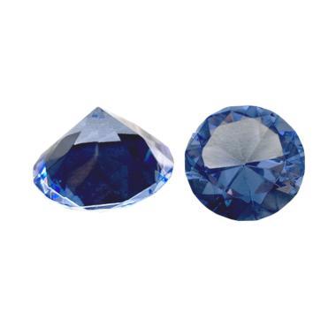 Eztu Diamond Round Kerajinan Tangan - Blue [4 cm]