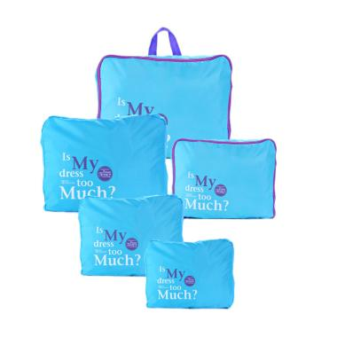 Toko Bagus Indo 5 in 1 Set Korean Travel Bag Organizer - Blue