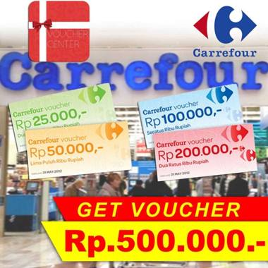 Voucher Center Voucher Carrefour [Rp.500.000]