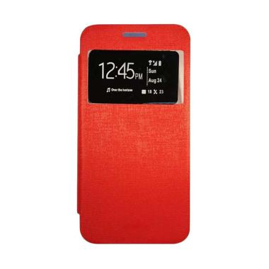 Gea Flip Cover Casing for Xiaomi Mi4i or Xiaomi Mi4C - Merah