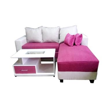 Aldi Furniture Minimalis Sofa L Bed - Merah [Jabodetabek]