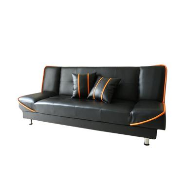 Anya-Living Saigon Sofa Bed - Hitam Garis Orange