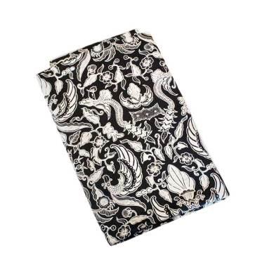Batik Kusuma Sari Kain Batik Sutra Rentesan Latar Hitam