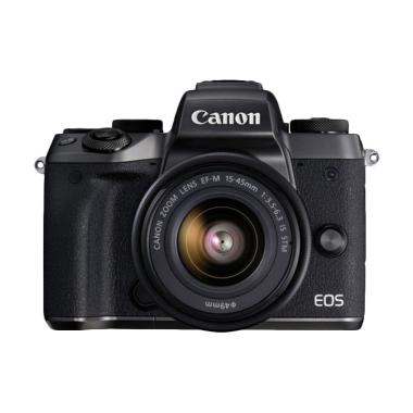 Canon EOS M5 EF-M 15-45mm IS STM Kamera Mirrorless - Hitam