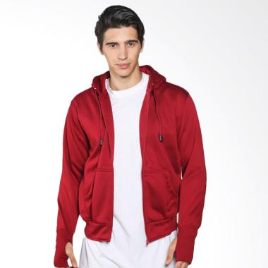 DEcTionS Sweater Zipper Hoodie Distro Jaket Polos Pria - Red