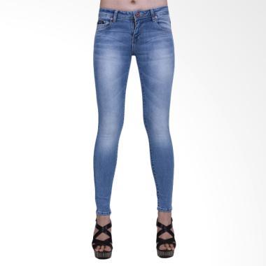 Mandalay Regular M07 Skinny Celana Wanita - Light Blue