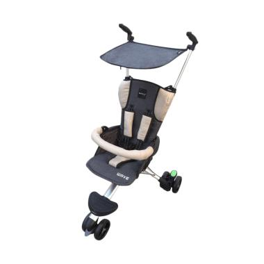 Baby Elle Stroller Wave Kereta Dorong Bayi - Grey