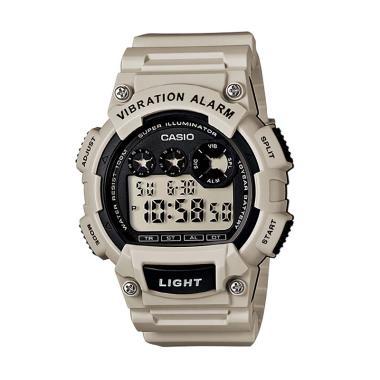 Casio W-735H-8A2VDF Vibration Alarm Jam Tangan Pria - Abu-abu