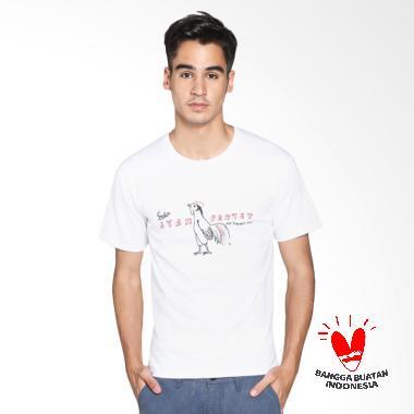 Indonesia Loh Kaos Sedia Ayam Penyet - White