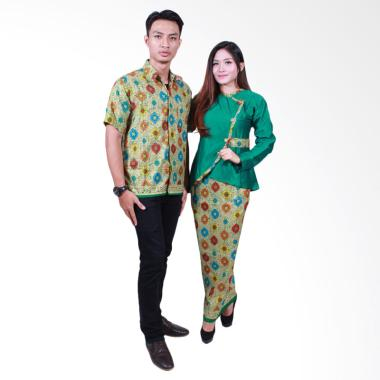 Batik Putri Ayu Solo SRD505 Batik Sarimbit Couple - Hijau