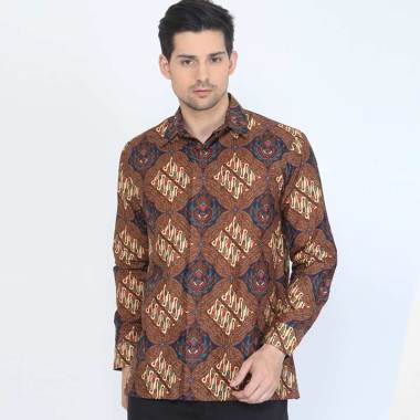 Adinata Batik Caturangga Kemeja Lengan Panjang Pria