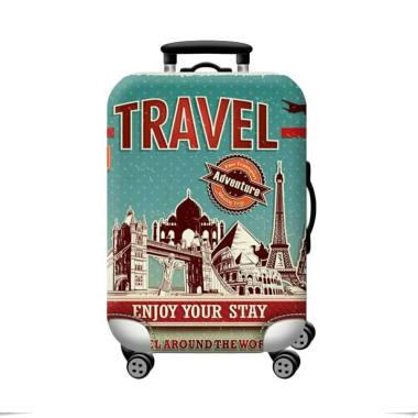 HomeStuff Motif Travel Adventure Sarung Pelindung Koper [Size L/26-28 Inch]